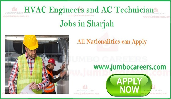 HVAC Engineers and AC Technician Job Vacancies in Sharjah