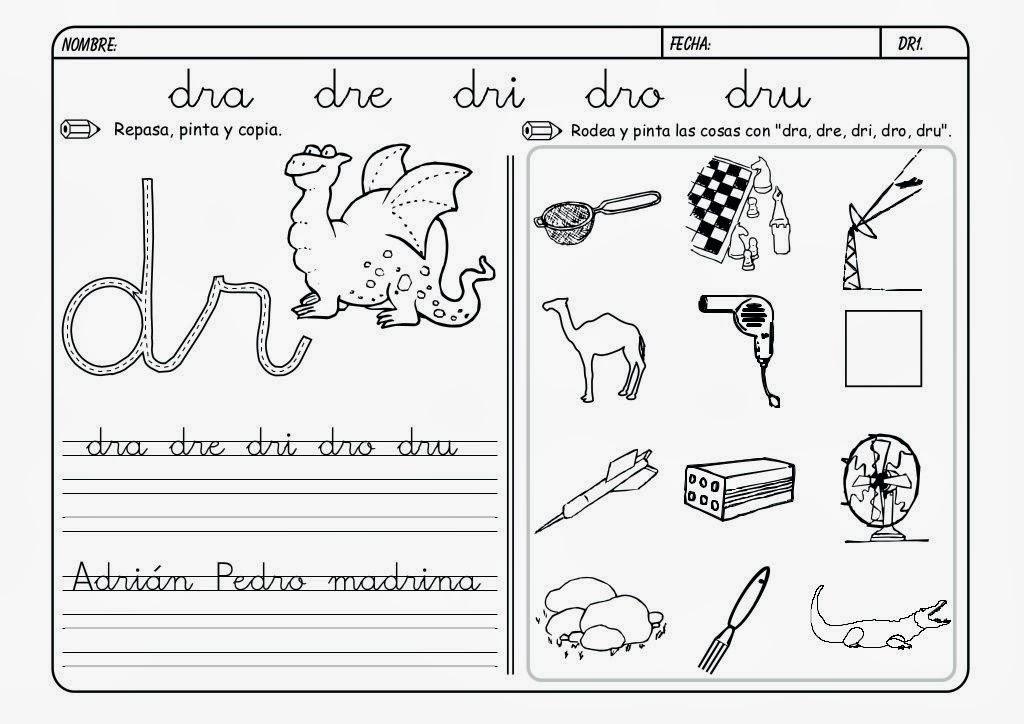 Dibujos Con La Trabada Br: SPANTEXAS: Palabras Con Cr,fr,tr,br,pr,gr,dr