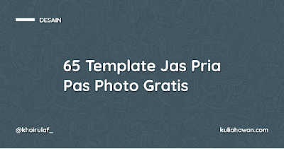 65 Template Jas Pria Pas Photo Gratis