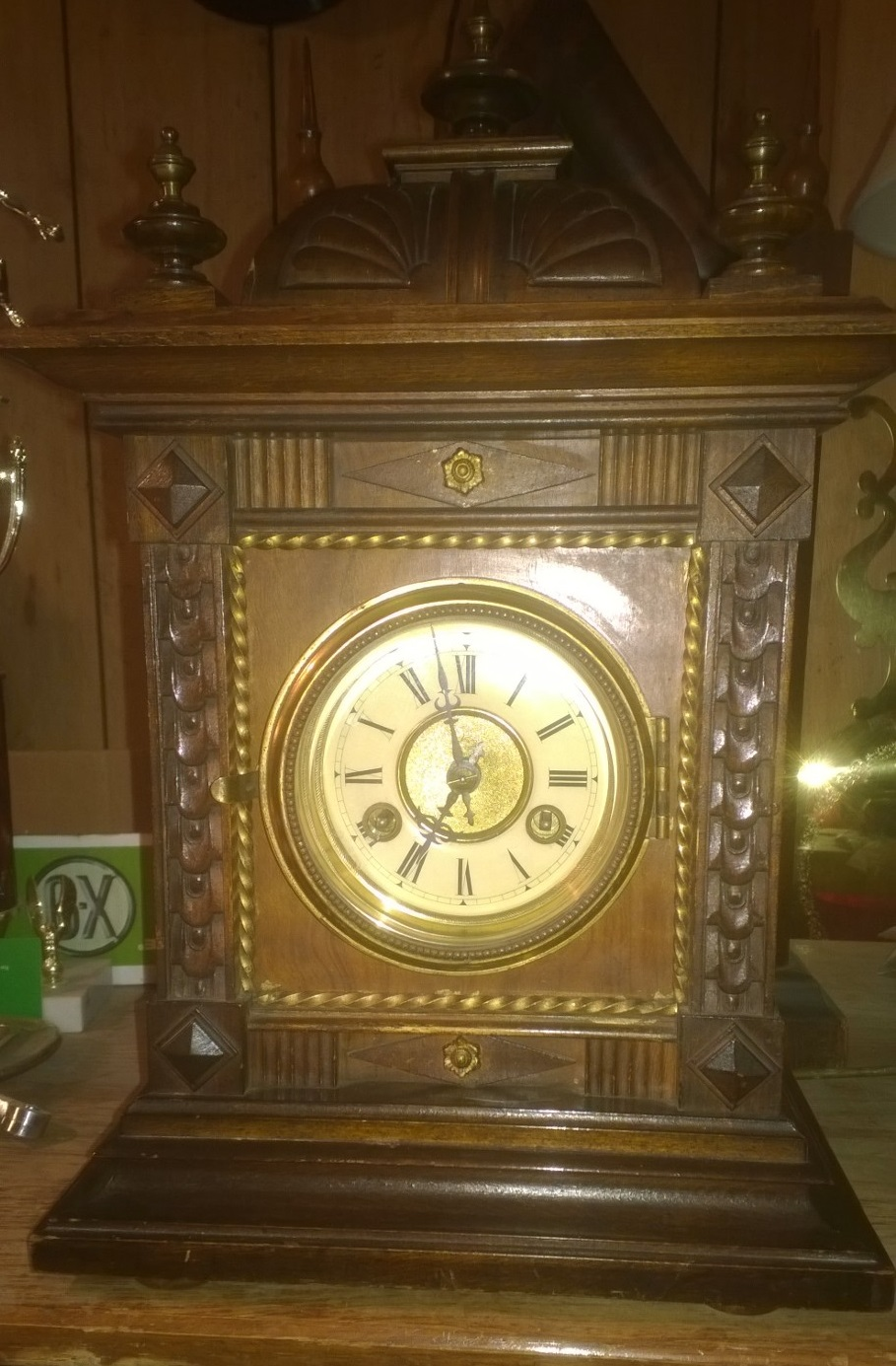Mikes clock repair here we have a nice junghans time strike mantle clock the problem description is the clock runs for a few minutes then radically stops amipublicfo Choice Image