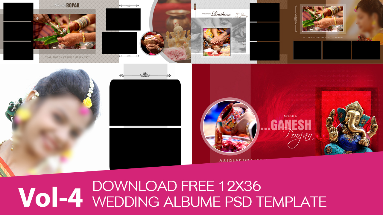 Wedding Vidhi Background 12x36 Psd Files Free Download