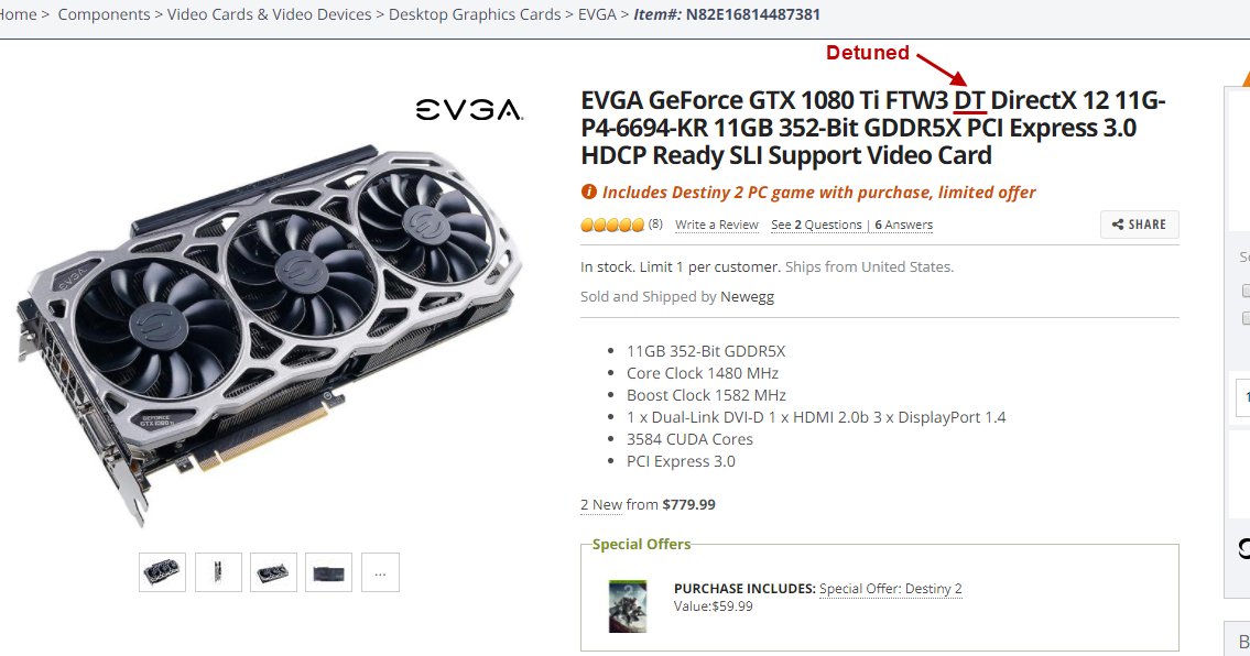 My Blog: Purchased a Detuned EVGA GTX 1080 Ti By Mistake