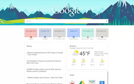 New Tab Page Google Now