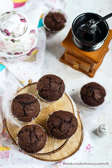 babeczki, murzynek,kakao, dzieci, muffinki, ciasto, deser, bernika, kulinarny pamietnik,