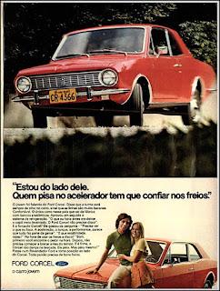 propaganda Ford Corcel - 1972, Ford Willys anos 70, carro antigo Ford, década de 70, anos 70, Oswaldo Hernandez,