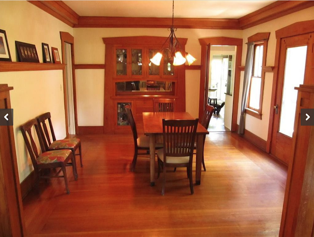 dining room in Craftsman-era Sears model, the Ashmore, in Erie, Pennsylvania