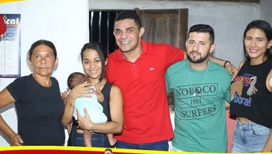 André Portela conquista adesões durante visita ao Povoado Santa Rosa em Capinzal do Norte