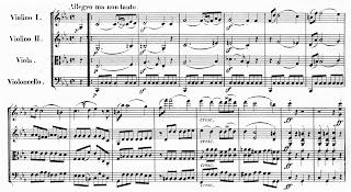 Nuotisto: Beethovenin jousikvartetto nro 4 op. 18.