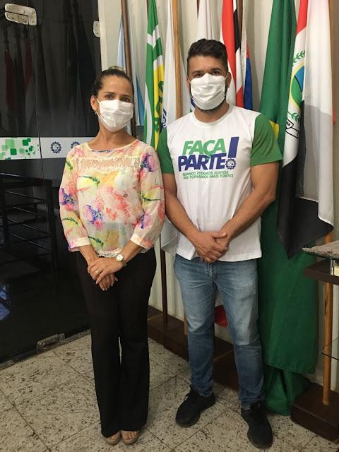 Presidente eleito Marcelo Santana e vice-presidente eleita Marly Alves