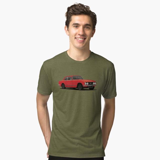 70's bristol 411 s5 -  classic car  t-shirt