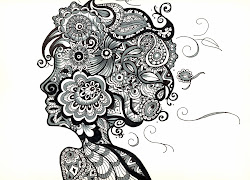 zentangling zentangle doodle zendoodle drawing larger patterns coloring christmas zen zentangles pages artists zentagle face easy tree merry drawn scan0009