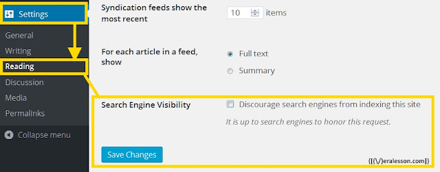 how disable search engine visibility in wordpress