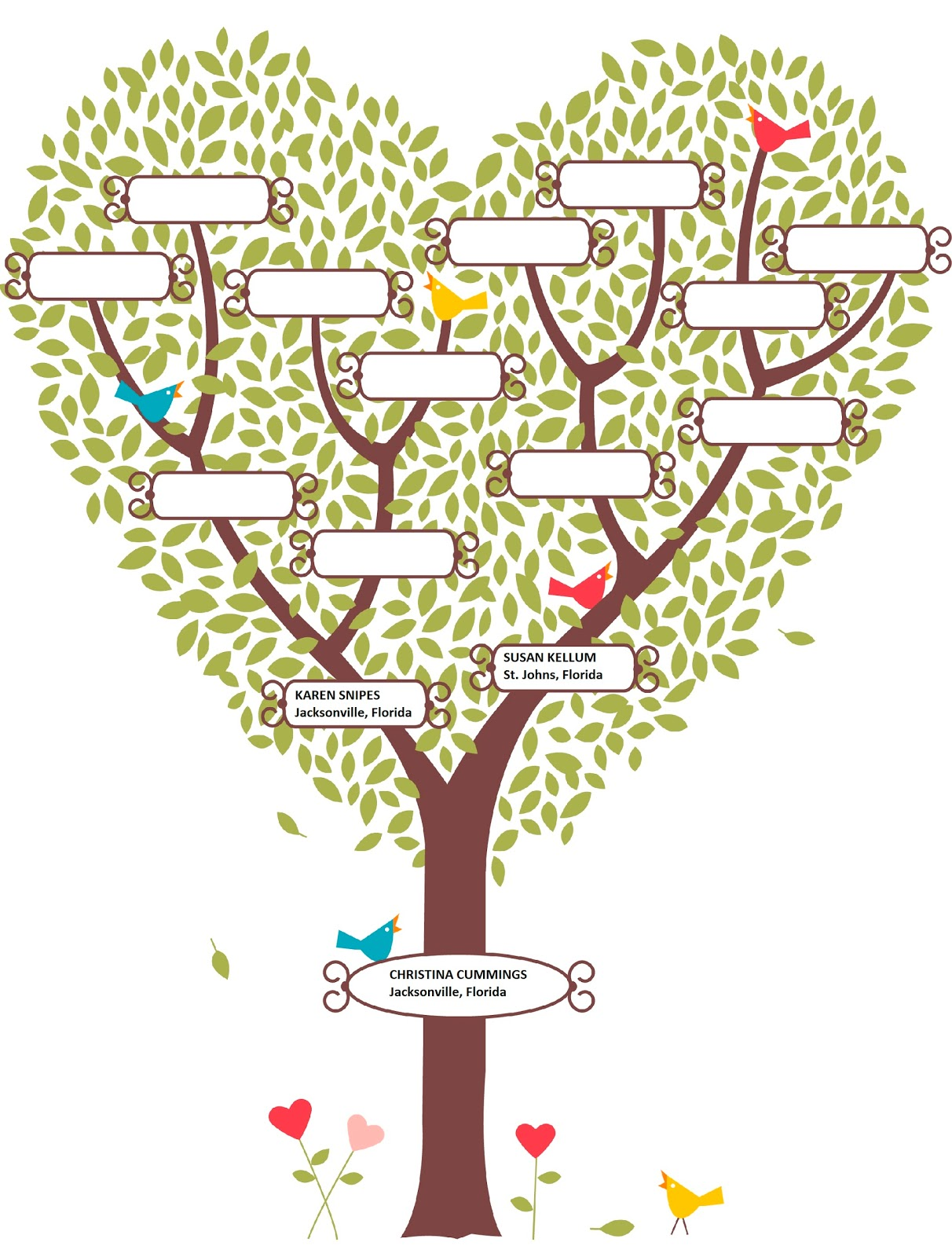 Family tree template family tree template dwg for Genealogy templates for family trees