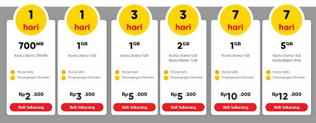 daftar paket yellow indosat