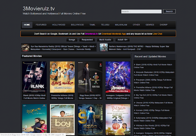 Movierulz:Download Movies From This Site [ Hindi Dubbed Movies ]