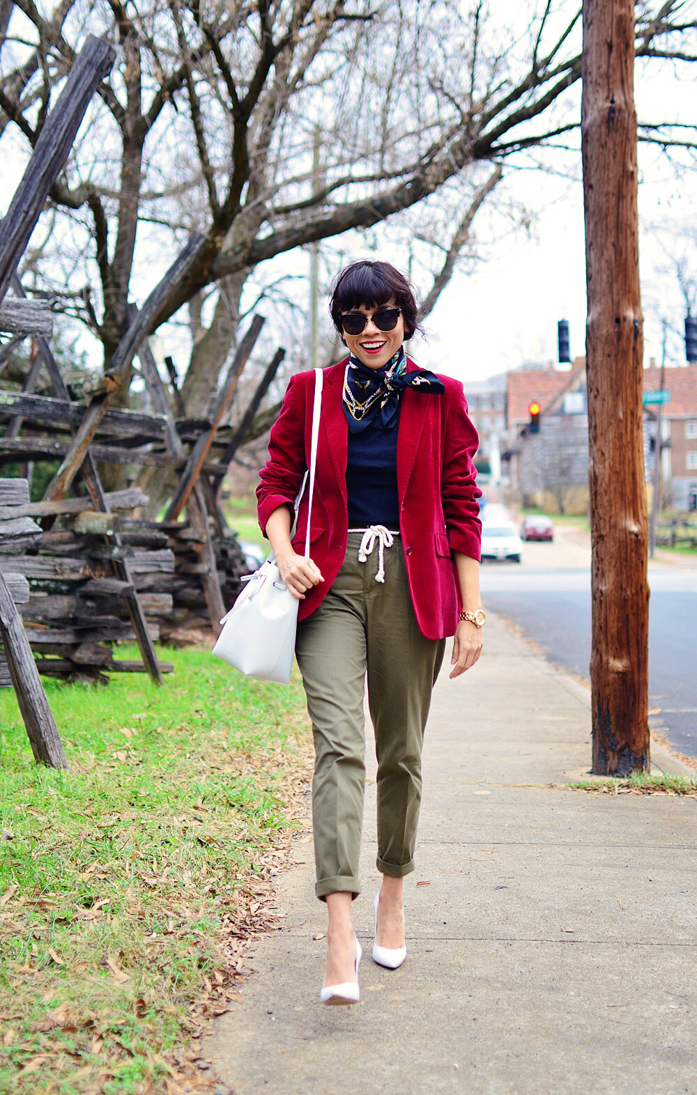 Olive green street style