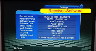 Tiger T8 High Class V2 V3.89 Ott Menu & Add Family Mode