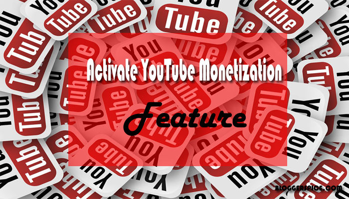 activate youtube monetization