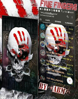 Five Fingers Skull Theme For YOWhatsApp & Fouad WhatsApp By ABM