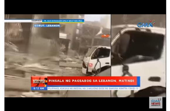 Pinay, iniligtas ang mga inaalagaang bata sa naganap na malakas na pagsabog sa Beirut