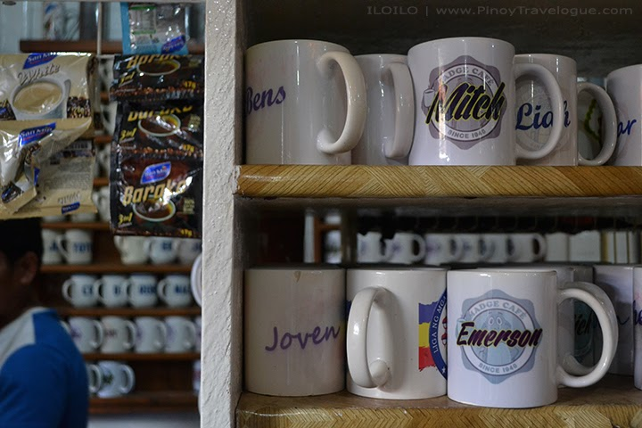 Madge Cafe customer's personalized coffee mugs