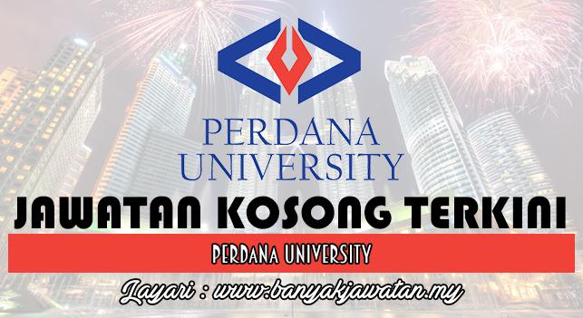 Jawatan Kosong Terkini 2016 di Perdana University
