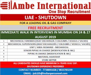 UAE Oil & Gas Shutdown