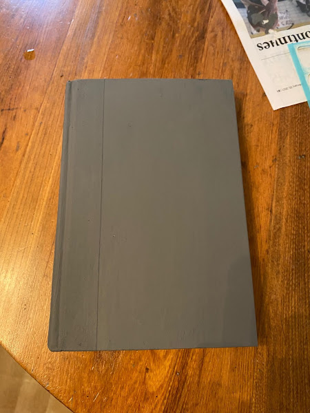 Photo of a book painted gray