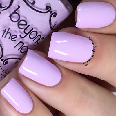 beyond the nail charged lilac swatch
