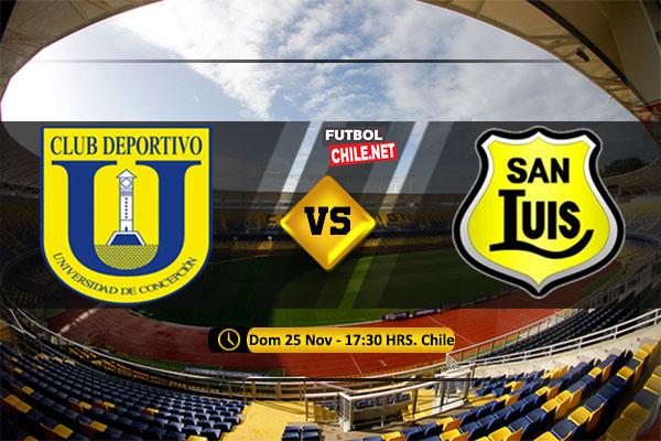 Mira Universidad de Concepción vs San Luis en vivo y online por la Primera División