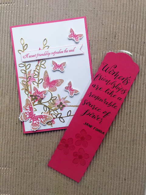 Melon Mambo Stampin' Up Card Bookmark Friend