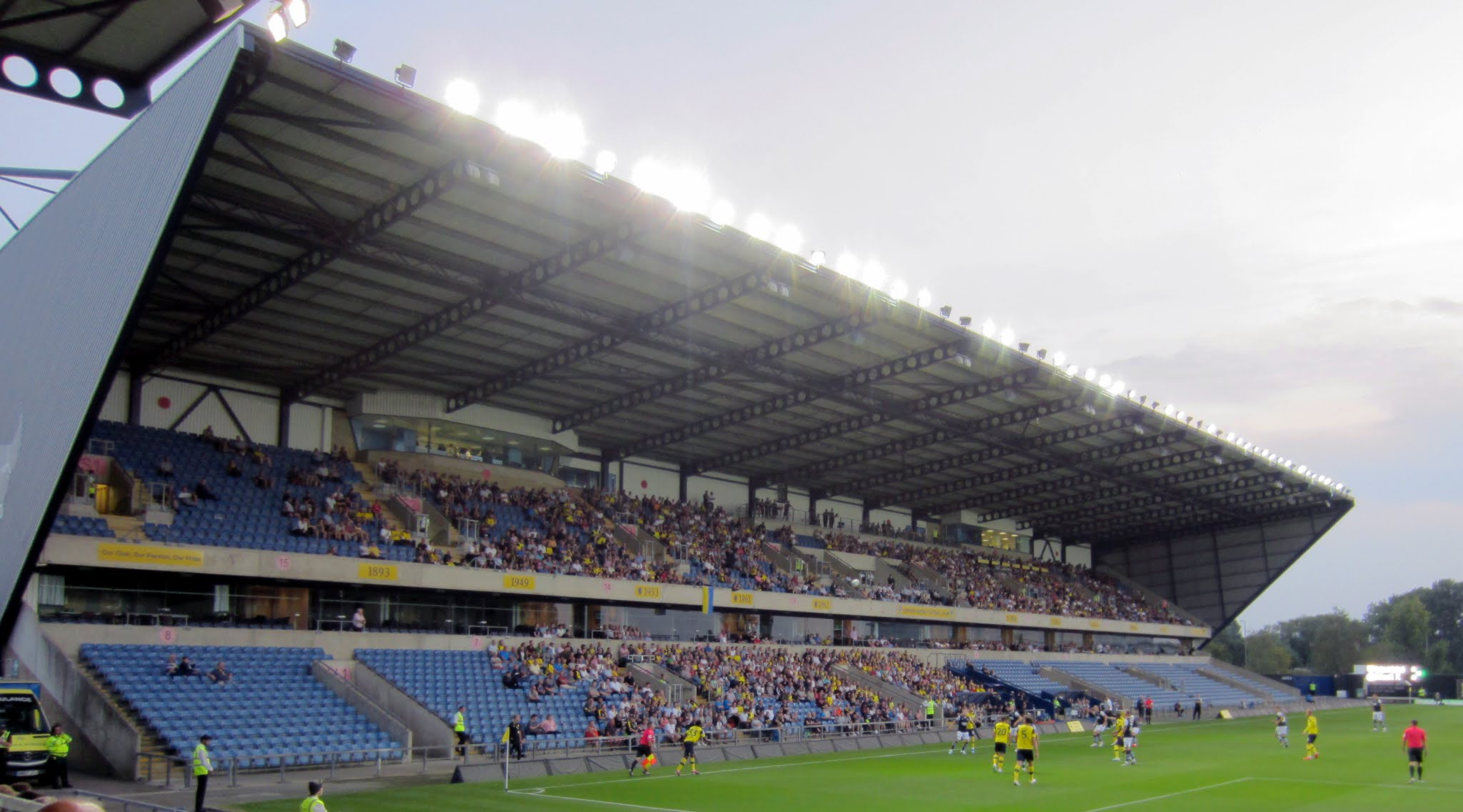 South stand at The Kassam Stadium