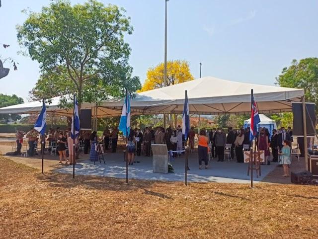 Praça América Central celebra independência de 5 países
