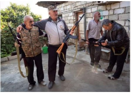 As the clashes escalated, volunteers from the Nagorno vs. Karabakh found weapons
