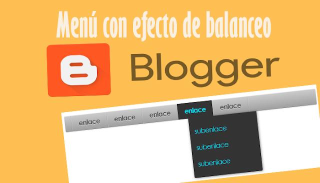 Menú con efecto de balanceo para Blogger