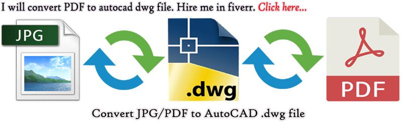Convert PDF to DWG file