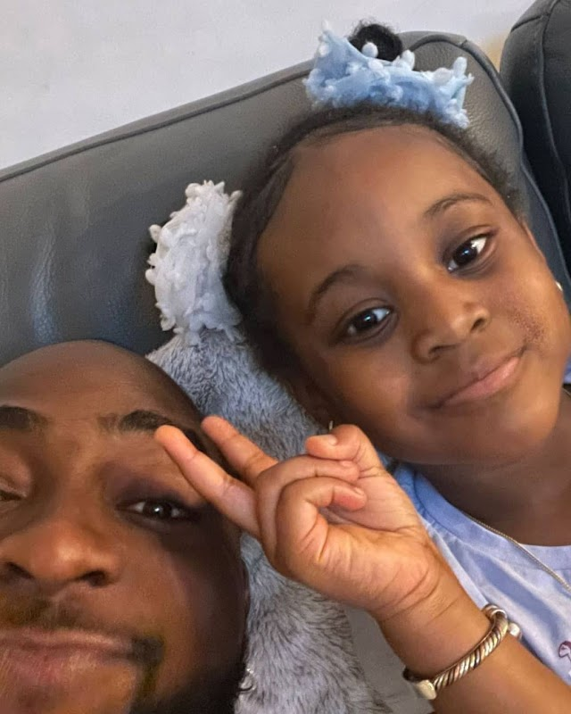 Lovely Photos and Video of Davido Having Fun With His Second Daughter, Hailey