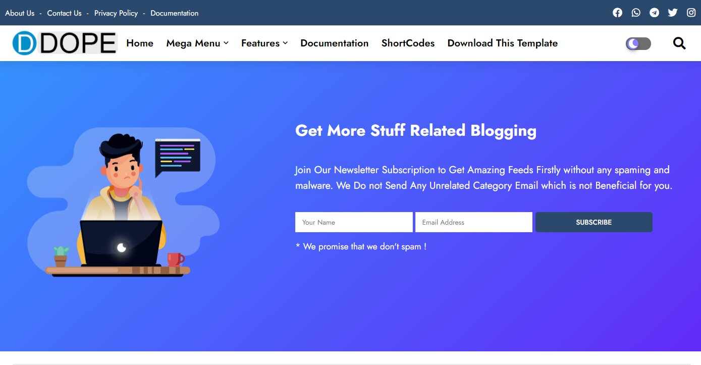 Dope is a Creative & Responsive Blogger Template