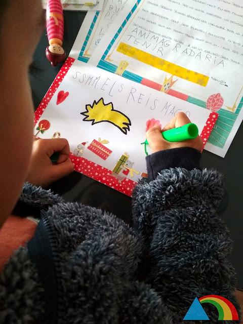 Escribiendo la carta a los Reyes Magos