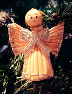 Photo of straw and glitter traditional style angel decoration from Germany