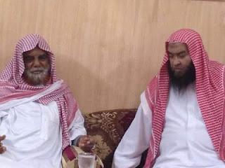 Syaikh Ali Hasan Al-Halabi bersama Syaikh Ali Adam Al-Itsyubi (Ethiopia)