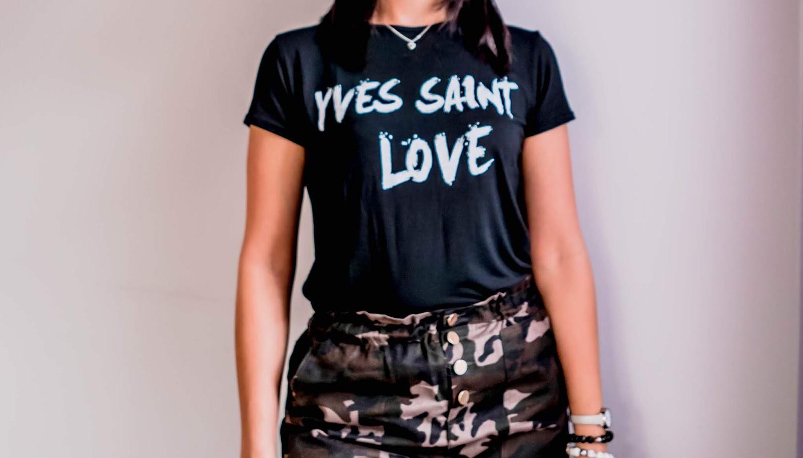 klasyczny tshirt z napisem
