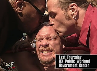 WWE / WWF - Wrestlemania 14 Review  -  Mike Tyson & Shawn Micahels kiss Mike Tyson at the DX Public Work Out