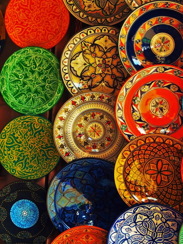 Colors of the Berber Market in Marrakech