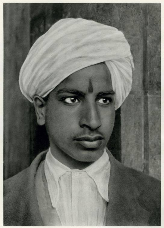Portrait of a Young Hindu Boy in Kashmir, India - 1928