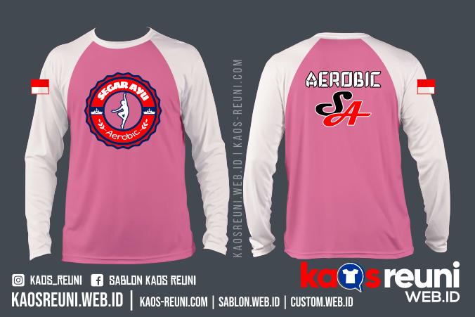 Segar Ayu Kaos Aerobic Zumba Senam Fitness - Sablon Kaos Online