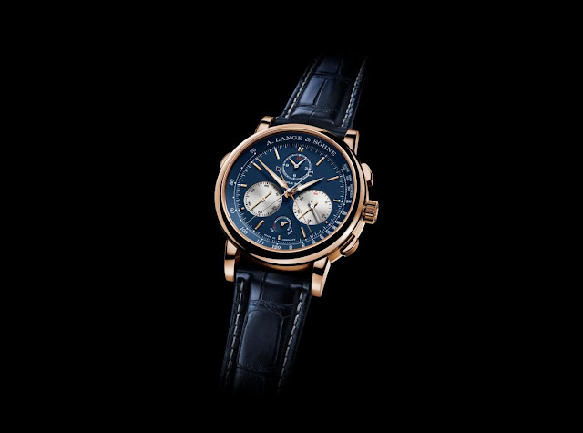 A. LANGE & SÖHNE THE TRIPLE SPLIT IN PINK GOLD WITH A BLUE DIAL