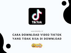 Cara Download Video TikTok Yang Tidak Bisa Di Download