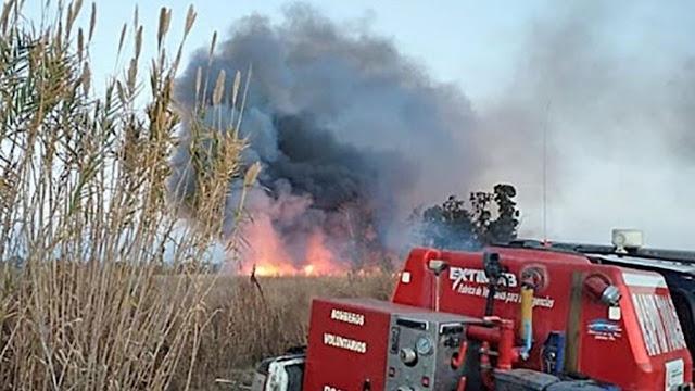 San Rafael: un hombre murió quemado en un incendio de campo