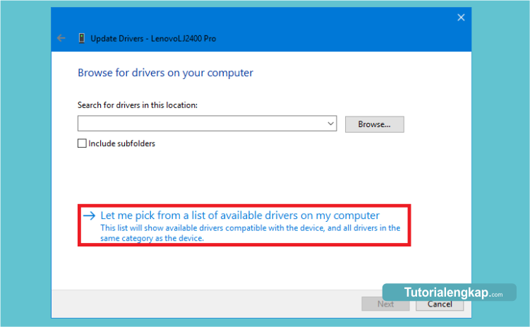 tutorial cara update driver komputer windows 10